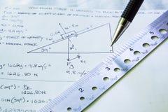 Прикладывать физику к проблеме Стоковые Фотографии RF