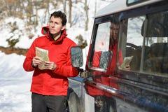 Приключение перемещения с человека дороги Стоковые Фото