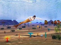 приключение под водой Стоковые Фотографии RF