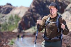 приключение hiking человек стоковая фотография rf