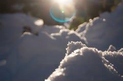 Приключения зимы Абстракция снега carpathians Украина стоковое изображение