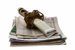 прикованная речь газет свободы принципиальной схемы Стоковые Изображения