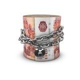 Прикованные рубли крена денег русские Стоковая Фотография RF