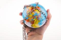 Прикованный глобус стоковые изображения