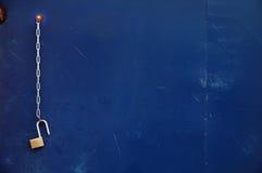 прикованный замок открытый Стоковые Фото