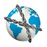 прикованный мир глобуса Стоковое фото RF