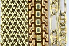 приковывает золото Стоковое Изображение RF