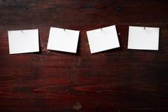 прикрепите одежды бумажные штыри фото rope к стоковое изображение rf