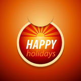 прикрепите счастливый стикер праздников Стоковая Фотография
