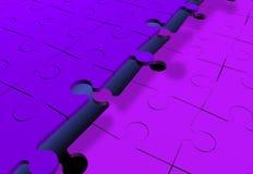 прикрепленные головоломки зигзага совместно Стоковое Изображение