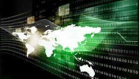 прикрепленный интернет формирует технологии Стоковое Изображение