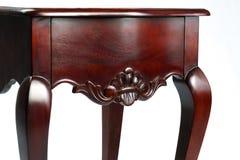 Прикроватный столик изолированный на белой предпосылке, mahogany Стоковые Фотографии RF