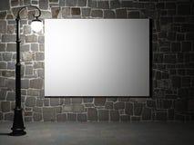 Прикройте афишу на кирпичной стене на ноче Стоковая Фотография RF