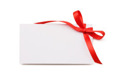 прикройте бирку подарка Стоковое фото RF