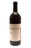 прикройте включенное бутылкой вино w путя ярлыка красное стоковая фотография rf