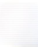 прикройте выровнянный лист тетради Стоковое Изображение RF