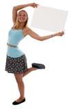 прикройте знак удерживания девушки предназначенный для подростков Стоковое фото RF