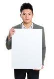 прикройте знак удерживания бизнесмена Стоковое фото RF