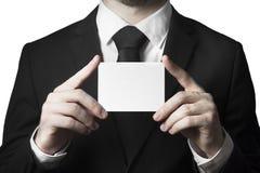 прикройте знак удерживания бизнесмена Стоковое Изображение RF