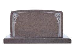 прикройте изолированная широкую надгробной плиты белая Стоковое Фото