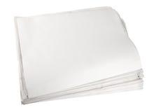 прикройте изолированную белизну бумаги газеты Стоковые Изображения RF