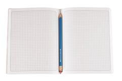 прикройте изолированную тетрадь Стоковые Изображения