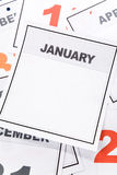 прикройте календар Стоковое фото RF