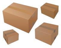 Прикройте 4 коробки почты Иллюстрация штока
