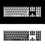 Прикройте клавиши на клавиатуре Стоковые Фотографии RF