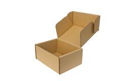 Прикройте открытую бумажную коробку. Стоковое фото RF