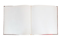 Прикройте открытую книгу на белой предпосылке Стоковое фото RF