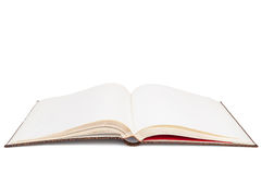 Прикройте открытую книгу на белой предпосылке Стоковые Изображения RF