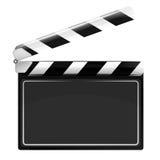 Прикройте открытый изолированный объект щитка кино Стоковое фото RF