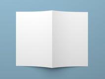 Прикройте сложенные рогульку, буклет, визитную карточку или брошюру Стоковая Фотография