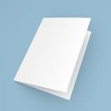 Прикройте сложенные рогульку, буклет, открытку, визитную карточку или брошюру Стоковое фото RF