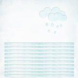 Прикройте текстурированное письмо с линиями и облаками Стоковые Фото