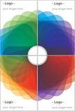 прикрывает цветастое иллюстрация вектора
