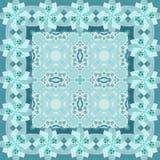 прикрынные Красивая картина с цветками в голубых тонах иллюстрация вектора