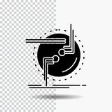 прикуйте, соединитесь, соединение, связь, значок глифа провода на прозрачной предпосылке r иллюстрация штока