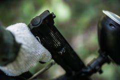 Приключение пейнтбола в лесе Стоковые Фотографии RF