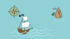 Приключения моря парусника пирата видеоматериал