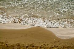 прилив моря отлива пляжа Стоковое фото RF