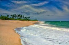 Прилив на пляже Стоковые Изображения RF