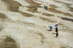 прилив текстуры реки neap mekongr Стоковое Изображение RF