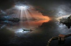 прилив Стоковая Фотография