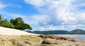 прилив philippines dimakya низкий palawan Стоковая Фотография