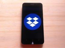 Приложение Dropbox стоковая фотография rf