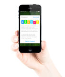 Применение банковской книжки на предъявителя на экране iPhone Яблока Стоковое Изображение RF