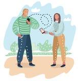 Применение датировка на мобильном телефоне как концепция иллюстрация штока