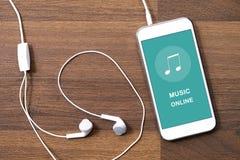 Применение игры музыки на умном телефоне иллюстрация вектора